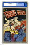 Golden Age (1938-1955):Western, Ghost Rider #1 (Magazine Enterprises, 1950) CGC NM- 9.2 Off-white pages. Inspired in part by the classic Vaughn Monroe hit r...