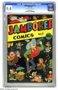 Golden Age (1938-1955):Funny Animal, Jamboree Comics #1 (Round, 1946) CGC NM 9.4 Off-white to whitepages. If you're looking for a nice high-grade generic humor ...