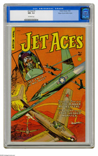 Jet Aces #1 Mile High pedigree (Fiction House, 1952) CGC NM- 9.2 Off-white pages. This is the only copy of this issue th...