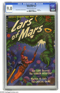 Lars of Mars #11 (Ziff-Davis, 1951) CGC VF/NM 9.0 Cream to off-white pages. Comics from publisher Ziff-Davis are noted f...