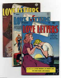 Love Letters Group (Quality, 1949-53) Condition: Average VG/FN. The issues in this group include some line-drawn covers...
