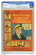 Golden Age (1938-1955):Miscellaneous, Meet the New Post-Gazette Sunday Funnies #nn (Pittsburgh Post-Gazette, 1949) CGC VF- 7.5 Off-white to white pages. Superman,...