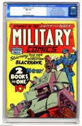 Golden Age (1938-1955):War, Military Comics #1 Mile High pedigree (Quality, 1941) CGC NM 9.4 White pages. This issue features the origin and first appea...