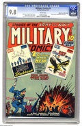 Golden Age (1938-1955):War, Military Comics #3 Mile High pedigree (Quality, 1941) CGC NM/MT 9.8 White pages. The third appearance of the Blackhawks is t...
