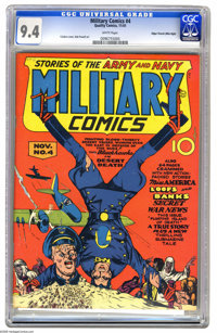 Military Comics #4 Mile High pedigree (Quality, 1941) CGC NM 9.4 White pages. If you want a high-grade copy of this issu...
