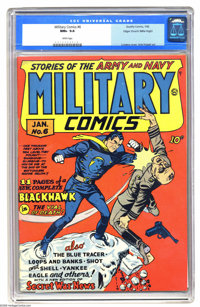 Military Comics #6 Mile High pedigree (Quality, 1942) CGC NM+ 9.6 White pages. Here's a copy that looks like it just rol...