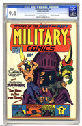 Golden Age (1938-1955):War, Military Comics #9 Mile High pedigree (Quality, 1942) CGC NM 9.4Off-white to white pages. This Edgar Church copy of the whi...