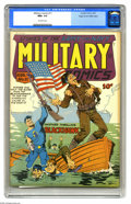 Golden Age (1938-1955):War, Military Comics #11 Mile High pedigree (Quality, 1942) CGC NM+ 9.6 Off-white pages. Here's a World War II book featuring a g...
