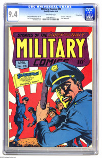 Military Comics #28 Pennsylvania pedigree (Quality, 1944) CGC NM 9.4 Off-white pages. World War II buffs may want to pay...