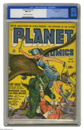 Golden Age (1938-1955):Science Fiction, Planet Comics #24 Rockford pedigree (Fiction House, 1943) CGC NM- 9.2 Cream to off-white pages. Flint Baker's Amazon Sky-Tro...