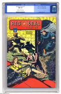 "Golden Age (1938-1955):Miscellaneous, Red Seal Comics #17 Mile High pedigree (Chesler, 1946) CGC NM 9.4 Off-white to white pages. This mag from the Harry ""A"" Ches..."