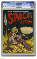 Golden Age (1938-1955):Science Fiction, Space Action #3 (Ace, 1952) CGC VF- 7.5 Off-white to white pages.The third and final issue of this short-lived series has a...