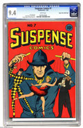 Golden Age (1938-1955):Miscellaneous, Suspense Comics #7 Mile High pedigree (Continental Magazines, 1944) CGC NM 9.4 White pages. The whole Suspense series co...