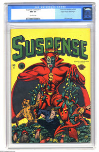 Suspense Comics #11 Mile High pedigree (Continental Magazines, 1946) CGC NM 9.4 Off-white pages. One of the very best co...