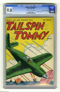 Golden Age (1938-1955):War, Tailspin Tommy #1 Mile High pedigree (Service Publications, 1946)CGC NM/MT 9.8 Off-white to white pages. Tailspin Tommy had...