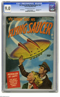 Golden Age (1938-1955):Science Fiction, Vic Torry & His Flying Saucer #nn (Fawcett, 1950) CGC VF/NM 9.0Off-white to white pages. This UFO-themed one-shot has a col...