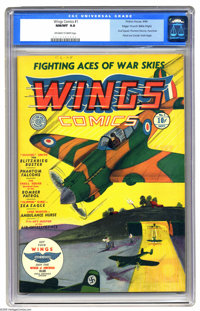 Wings Comics #1 Mile High pedigree (Fiction House, 1940) CGC NM/MT 9.8 Off-white to white pages. If you collect Fiction...