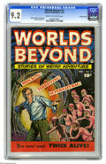 Golden Age (1938-1955):Horror, Worlds Beyond #1 Crowley Copy pedigree (Fawcett, 1951) CGC NM- 9.2Cream to off-white pages. This Pre-Code horror mag has co...