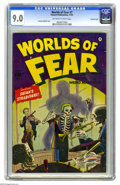 Golden Age (1938-1955):Horror, Worlds of Fear #7 Crowley Copy pedigree (Fawcett, 1952) CGC VF/NM 9.0 Off-white to white pages. A great cover by Sheldon Mol...