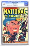 Golden Age (1938-1955):Superhero, National Comics #6 (Quality, 1940) CGC FN 6.0 Cream to off-whitepages. Uncle Sam and speedster Quicksilver are just two of ...