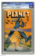 Golden Age (1938-1955):Science Fiction, Planet Comics #48 (Fiction House, 1947) CGC FN+ 6.5 Cream tooff-white pages. Robot cover. Murphy Anderson, George Evans, an...
