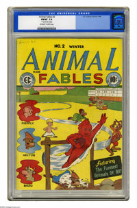 "Animal Fables #2 (EC, 1946) CGC FN/VF 7.0 Off-white to white pages. Aesop's fables are featured. CGC notes, ""One-in..."