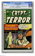 Golden Age (1938-1955):Horror, Crypt of Terror #19 (EC, 1950) CGC NM 9.4 Off-white pages. Here'san absolutely beautiful copy of the last issue of this tit...