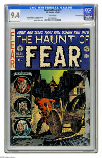 Haunt of Fear #21 Gaines File pedigree 1/10 (EC, 1953) CGC NM 9.4 White pages. Graham Ingels cover. Art by Ingels, Jack...