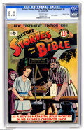 Golden Age (1938-1955):Religious, Picture Stories from the Bible New Testament 1 Gaines File pedigree(EC, 1946) CGC VF 8.0 Off-white pages. This is the 1946 ...