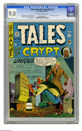 Golden Age (1938-1955):Horror, Tales From the Crypt #20 (#1) (EC, 1950) CGC VF/NM 9.0 Off-white towhite pages. The discovery of one's date of death has lo...