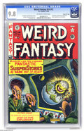 Golden Age (1938-1955):Science Fiction, Weird Fantasy 14 Gaines File pedigree (#2) (EC, 1950) CGC NM/MT 9.8Off-white to white pages. This incredible copy of the se...