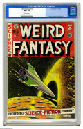 "Golden Age (1938-1955):Science Fiction, Weird Fantasy #10 (EC, 1951) CGC NM+ 9.6 Off-white pages. In thisissue's story ""A Timely Shock,"" drawn by Jack Kamen, an un..."