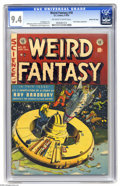 Golden Age (1938-1955):Science Fiction, Weird Fantasy #18 Gaines File pedigree (EC, 1953) CGC NM 9.4Off-white to white pages. Al Williamson and Al Feldstein contri...