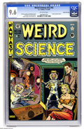 Golden Age (1938-1955):Science Fiction, Weird Science 15 (#4) Gaines File pedigree, 4/12 (EC, 1950) CGC NM+9.6 Off-white pages. Al Feldstein provides this early is...