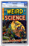 Golden Age (1938-1955):Science Fiction, Weird Science #9 Gaines File pedigree (EC, 1951) CGC NM+ 9.6Off-white to white pages. Wally Wood turns in a great gruesome-...