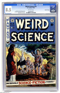 Golden Age (1938-1955):Science Fiction, Weird Science #14 Gaines File pedigree (EC, 1952) CGC VF+ 8.5Off-white pages. For the life of us, we can't tell why this in...