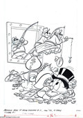 Original Comic Art:Covers, Jack Manning and Larry Mayer - Beagle Boys Versus Uncle Scrooge #11Cover Original Art (Gold Key, 1980). The Beagle Boys spe...