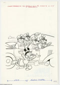 Original Comic Art:Covers, Western Publishing Artist - Beagle Boys Versus Uncle Scrooge #3Cover Original Art (Gold Key, 1979). Uncle Scrooge and the B...