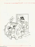 Original Comic Art:Covers, Western Publishing Artist - Beagle Boys Versus Uncle Scrooge #14Cover Original Art (Gold Key, 1980). The Beagle Boys will u...
