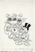 "Original Comic Art:Covers, Western Publishing Artist - Beagle Boys Versus Uncle Scrooge #15Cover Original Art (Gold Key, 1980). It's the old ""money ba..."