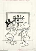Original Comic Art:Covers, Western Publishing Artist - Uncle Scrooge #186 Cover Original Art(Whitman, 1981). Even in a simple game of tic-tac-toe, Unc...