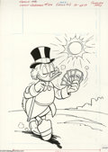 Original Comic Art:Covers, Western Publishing Artist - Uncle Scrooge #189 Cover Original Art(Whitman, 1981). Uncle Scrooge keeps cool by fanning himse...