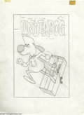 Original Comic Art:Covers, Western Publishing Artist - Underdog #1 Cover Original Art (GoldKey, 1975). Have no fear -- Underdog is here -- in both a t... (2items)