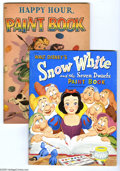 Memorabilia:Miscellaneous, Walt Disney and Other Paint Book Group (Whitman, 1942-52) Condition: Average VF. Eight unused coloring books taken from the ... (8 items)