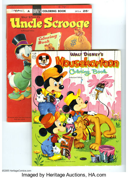 Disney Character Coloring Book Group (Whitman, 1954-61). Here\'s ...