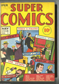 Super Comics #1-12 Bound Volume (Dell, 1938-39). One of Whitman (Western) Publishing Company's first comic book titles w...