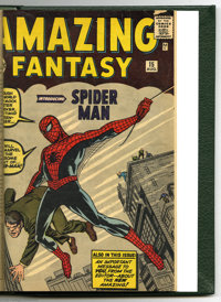 Amazing Adventures, Amazing Adult Fantasy, and Amazing Fantasy #1-15 Bound Volume (Atlas/Marvel, 1961-62). When the firs...