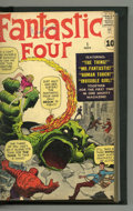 Silver Age (1956-1969):Superhero, Fantastic Four #1-20 and Annual #1 Bound Volume (Marvel, 1961-63).The first appearance of the Fantastic Four leads off this...