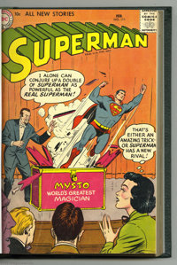Superman #111-125 Bound Volume (DC, 1957-58). The art of Wayne Boring and Curt Swan is on display in this handsome bound...