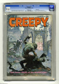 Magazines:Horror, Creepy #7 Pacific Coast pedigree (Warren, 1966) CGC NM+ 9.6 Off-white pages. Frank Frazetta and Roy Krenkel cover. Frazetta,...